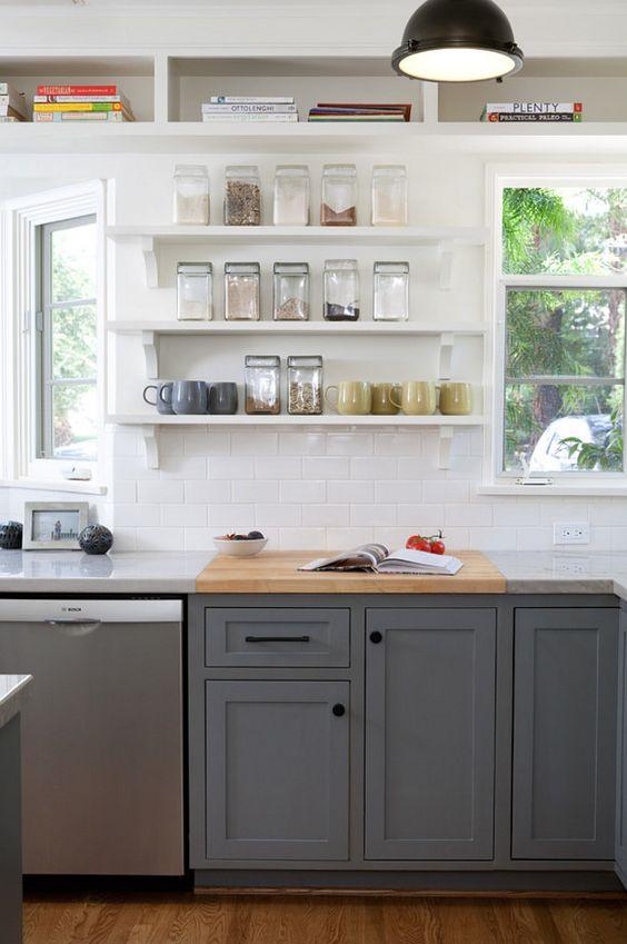 Kitchen cabine kitchen cabinet and open shelves ideas - Open kitchen cabinet ideas ...