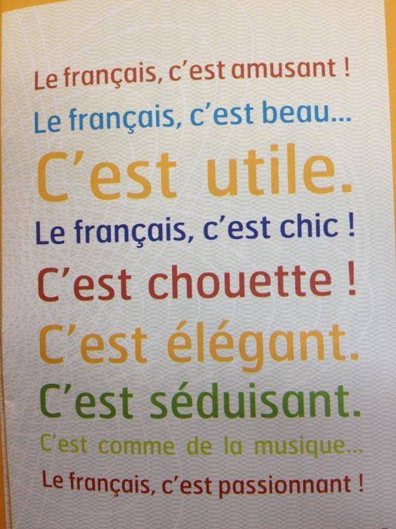 C'est Pourquoi J'adore la langue française