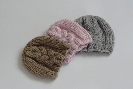 Knit baby hat baby  beanie Newborn Boy Hat Photo Prop by Ifonka, $17.00