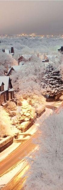 Snowy Dusk London ,England