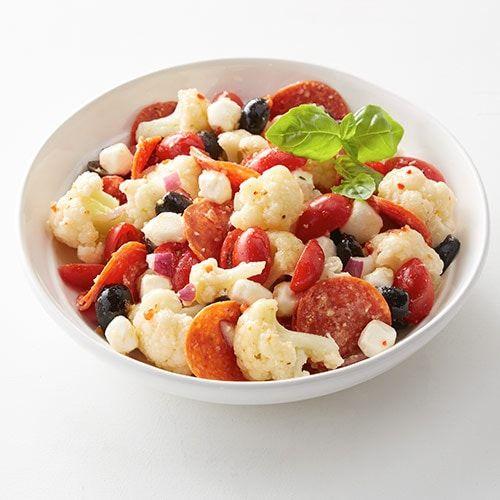 Italian Cauliflower Salad Recipe In 2020 Cauliflower Salad Vegetable Dishes Keto Recipes Easy