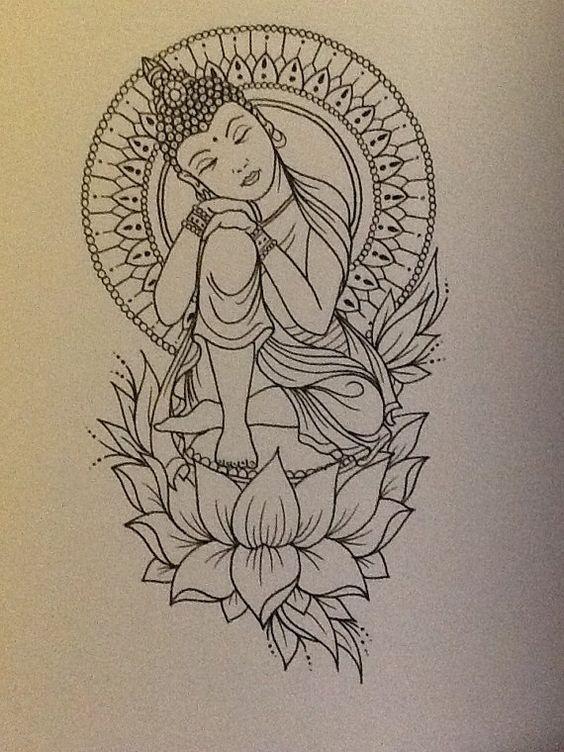 dessin bouddha - Recherche Google