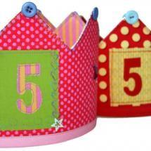 Corona de aniversario para los niñ@s. Sopréndelos y haz que tengan un regalo único y especial para celebrar su cumpleaños.  Kit de Jan et Jul