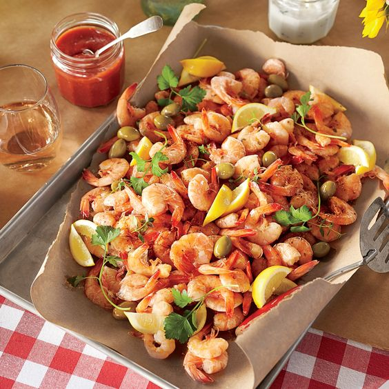 Shrimp Boil with Green Olives and Lemon Recipe | MyRecipes.com Mobile