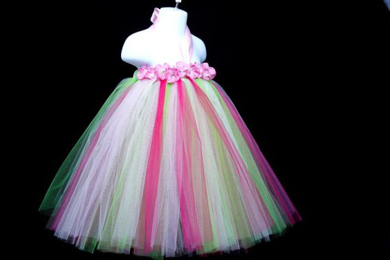 Water Color TuTu Dress Wedding Birthday Flower by giselleboutique, $39.99
