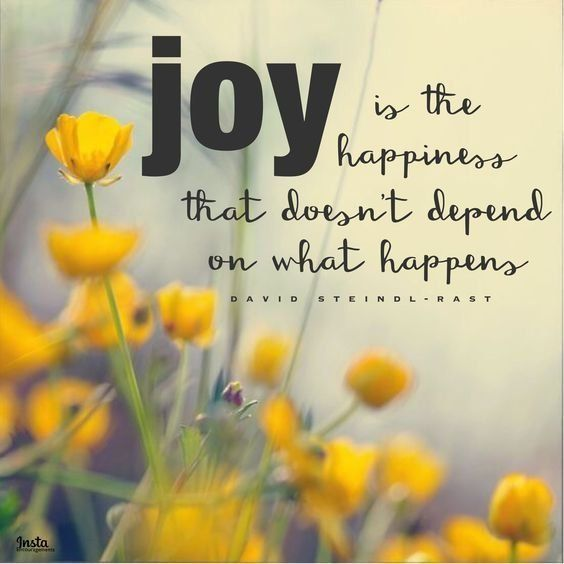 David Steindl-Rast JOY quote 12:9 5x5 Print
