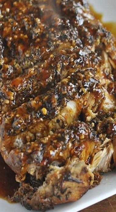 Slow Cooker Parmesan Honey Pork Loin Roast