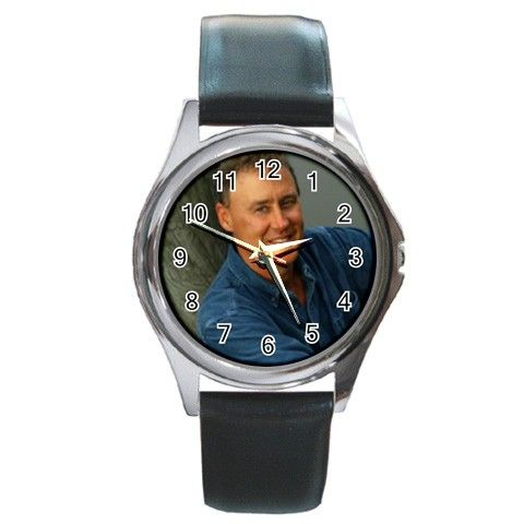 Bruce Hornsby Round Metal Watch