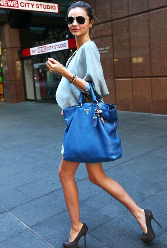 prada purse blue