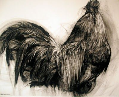 April Coppini's charcoal drawings