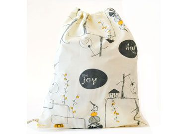 GIVE JOY (Yellow/Grey) gift bags