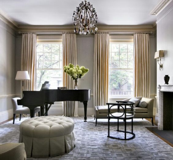 Piano room and fab curtains!
