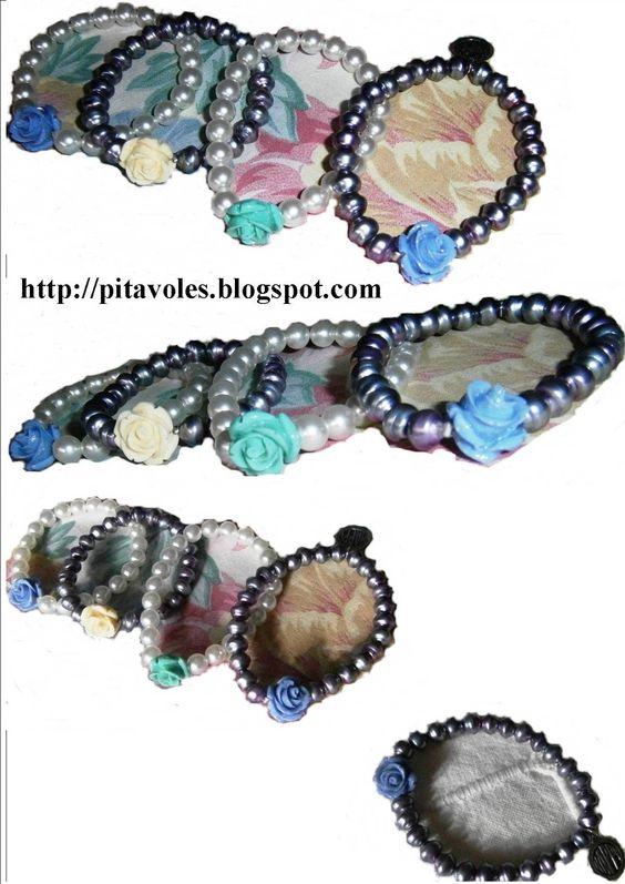 pitavoles: polseres de perles i roses