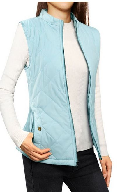 Its so cold, I need one of these! woman-stand-collar-zip-up-front-quilted-padded-vest