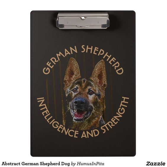Abstract German Shepherd Dog Clipboards