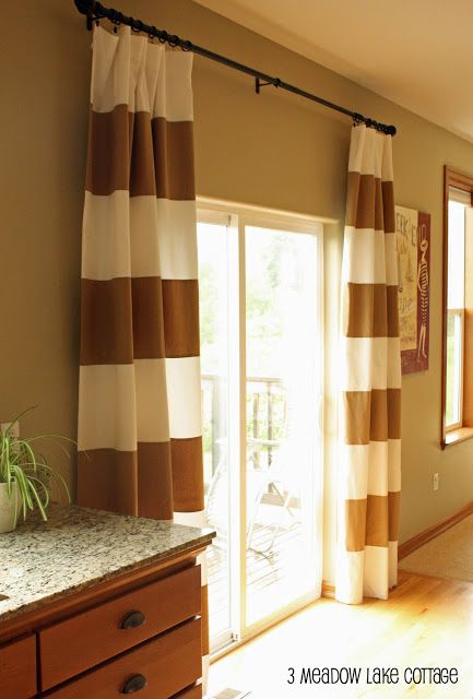 Striped curtains finally and the after party window for Vertical sliding window design