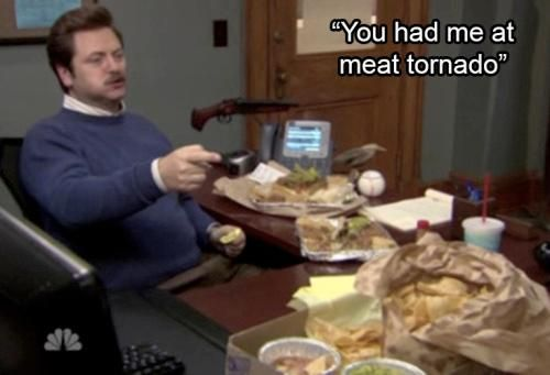 'Parks and Recreation' carnivore Ron Swanson will be missed, but we'll always have his loving quotes about meat.: