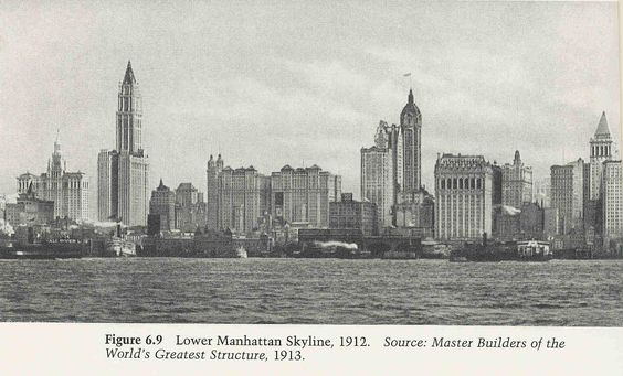 Lower Manhattan Skyline 1912