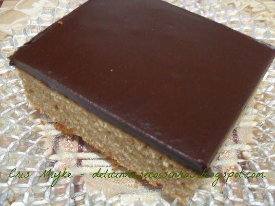 Bolo de Mel com Chocolate - delicinhasecoisinhas.blogspot.com