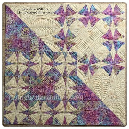 Vintage Inspired - A Remake Of Winding WaysHere is the final installment of the Island Batik April Challenge. My Winding Ways quilt remake includes these modern elements: • A diagonally bisection to emphasize the two fabric • An overlapping square...