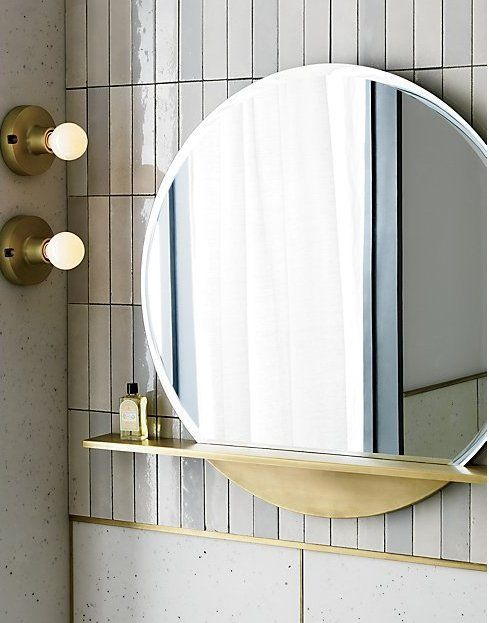 Perch Round Mirror With Shelf 36 Reviews With Images