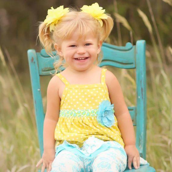 My little girl wearing Haute Baby.