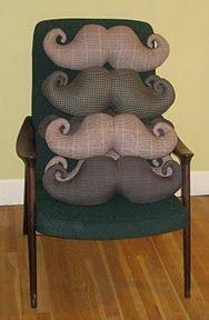 Moustaches Mustache pillows cushions for men funny Bigote cojin divertido para hombre reciclar tela de trajes: