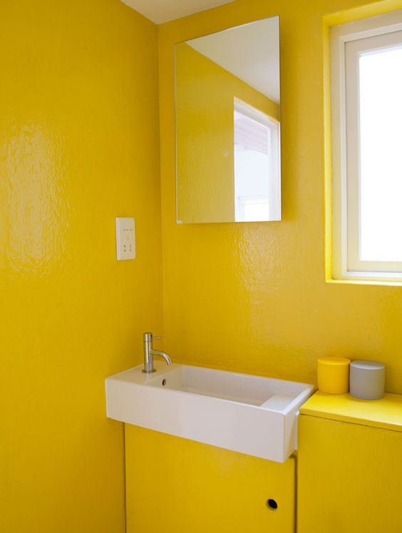 all yellow bathroom decor colors bathroom bathrooms banheiros pinterest bathroom. Black Bedroom Furniture Sets. Home Design Ideas