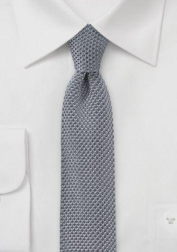 Seiden-Krawatte gestrickt grau