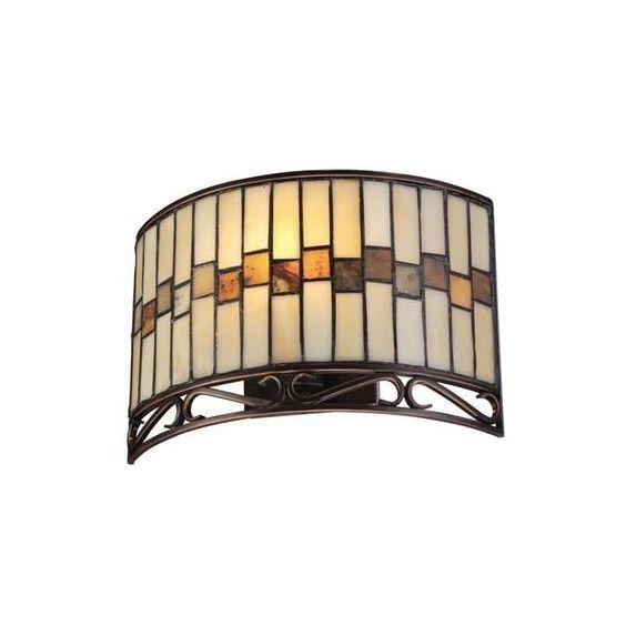 Omora Dark Bronze Wall Lamp featuring polyvore, home, lighting, wall lights, lite source lighting, lite source lamps and lite source