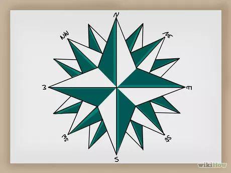 Image intitulée Draw a Compass Rose Step 12