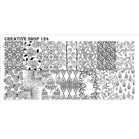 COMING SOON Creative Shop- Stamping Plate- 124