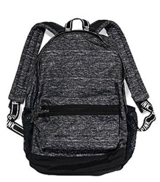 Victoria S Secret Pink Campus Backpack Gray Sporty Stuff