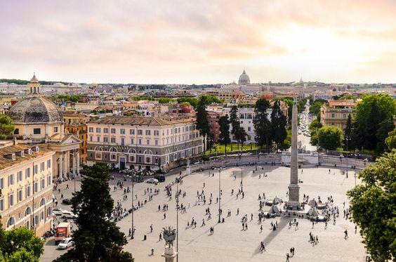 П'яцца-дель-Пополо, Рим, Італія