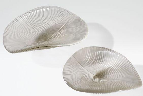 Armani para el hogar  Centros de mesa 'Elizabeth' son un objeto de distinción a todas luces hecho de cristal de Murano.