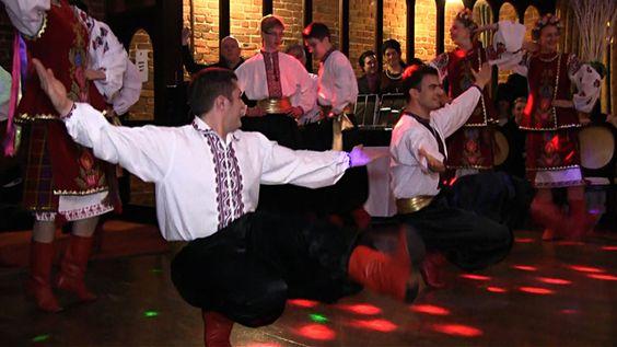 Ukrainian dancers at the wedding