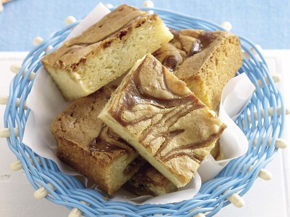 Rich, sweet caramel and white chocolate brownies, or in this case, blondies, are beautifully baked and enjoyed sliced with a mug of tea or coffee.