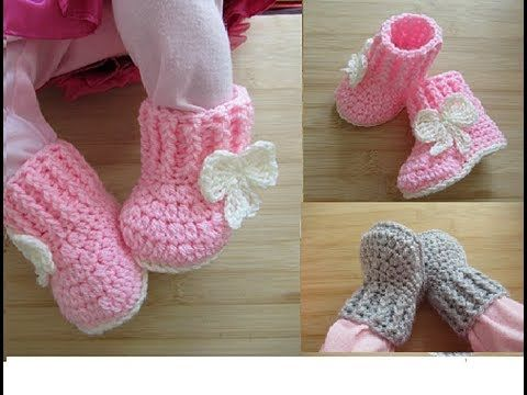 Youtube Botines Para Bebé De Ganchillo Sandalias Para Bebé De Ganchillo Botas Para Bebé De Ganchillo