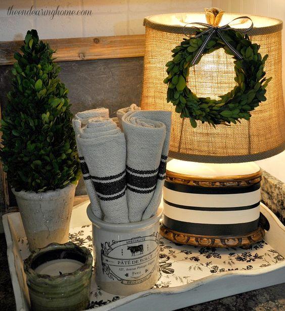 lamp makeover grain sack and sacks on pinterest. Black Bedroom Furniture Sets. Home Design Ideas