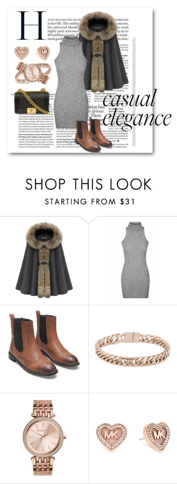 """""""Rose Gold Jewelry"""" by nordicstyle ❤ liked on Polyvore featuring Oxxo, Michael Kors and Chanel"""