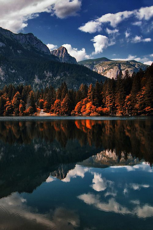 favorite-season:  Tovel lake by  Roberto Carnevali