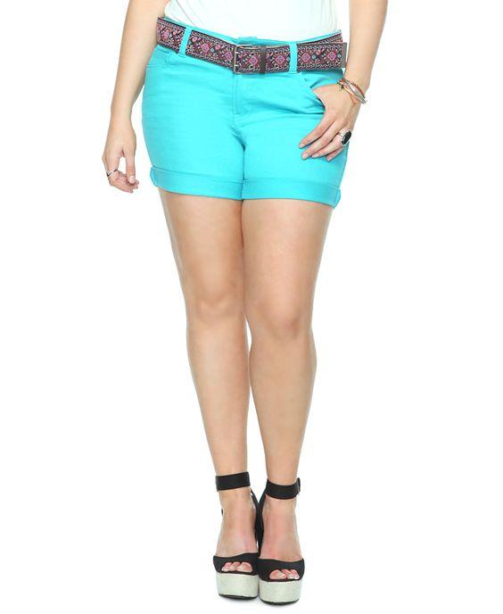 Colored denim shorts!