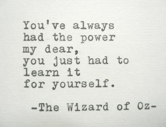 WIZARD OF OZ Quote Frank Baum Quote Typed On Typewriter