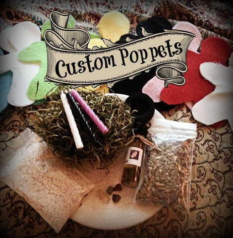 Now Available-Create your very own customized poppet kit! Yep, The Barefoot Witchery has made this SUPER EASY for you to do. Just specify the options you wish via the drop down menus, upload an image to be placed either inside or with the poppet, and specify any additional details or requests in the text box provided! IT IS THAT EASY! Click here to see for yourself. Sometimes your magical, ritual and spell supplies needs to be custom tailored to suite your needs and that is our specialty!