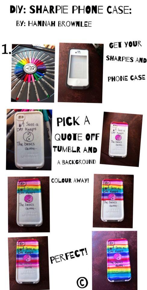 Sharpie DIY phone case! Easy way! Super cute!