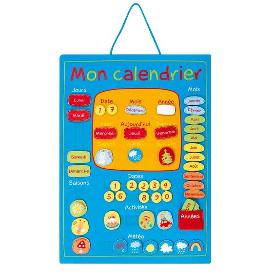 mon calendrier pour enfant de 4 ans 7 ans oxybul veil et jeux jeux d 39 enfants pinterest. Black Bedroom Furniture Sets. Home Design Ideas