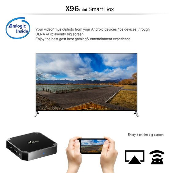 X96mini Android 7.1.2 TV Box Amlogic S905W 2GB / 16GB EU Plug Sales Online 16g eu - Tomtop