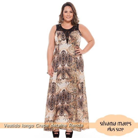 Vestido Longo estampado plus size!