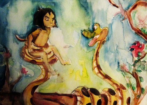 The junglebook disney watercolor