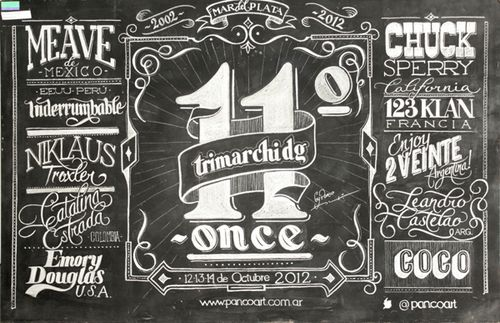 Typeverything.com Trimarchi DG chalkboard lettering by Panco...